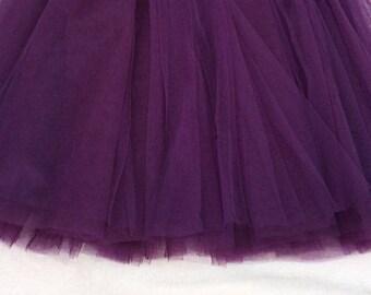 soft tulle plum width 120 cm