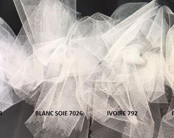 100 meter tulle flexible width 300 cm ivory color