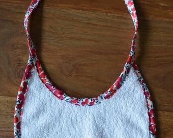 Fabric baby bib Terry Oeko Tex and through Liberty