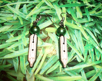 pencil earrings