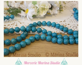 5 natural turquoise 8mm beads * non-tinted and unheated * reiki * chakras