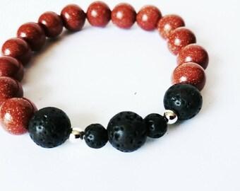 Bracelet gemstones and volcanic