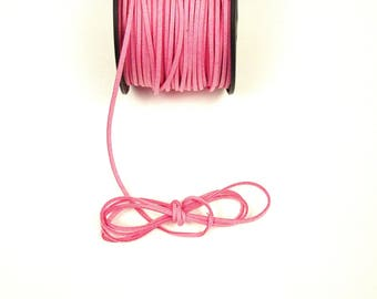 Pink medium 3 mm suede cord / 1.5 mm sold by the cut