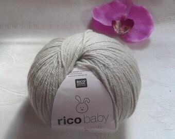 Ecru RICO BABY Classic 50 percent polyamide 50% acrylic wool