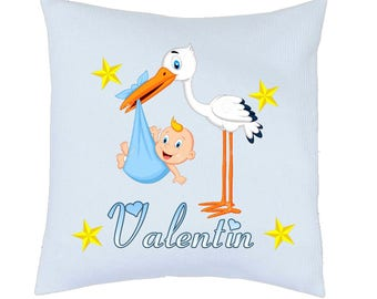 ref 73 fully personalized girl birth announcement pillow