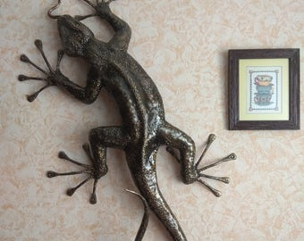 "Sculpture ""Lizard"" metal forged hand-made"