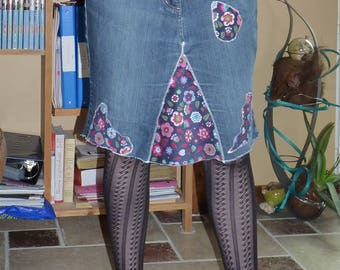 Skirt, size 40: pants into a skirt, floral pattern