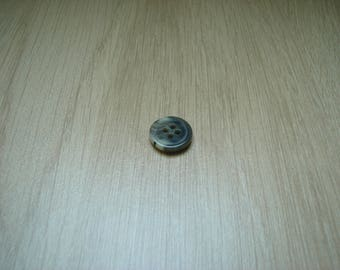 Gray marbled black button with RIM