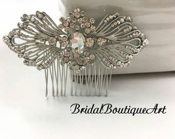 Vintage wedding hair comb,Wedding hair comb,Crystal hair comb,Bridal hair accessories,Vintage comb,Luxury hair comb,Antique hair comb
