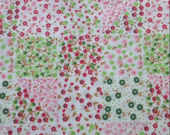 1 meter fabric Liberty flowers colorful