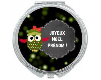 "Pocket mirror ""special Christmas"" personalized"