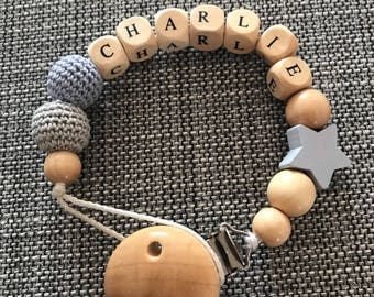 Personalised wooden dummy clips 1