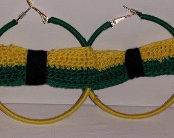 Crocheted hoop size SUPER Jamaica