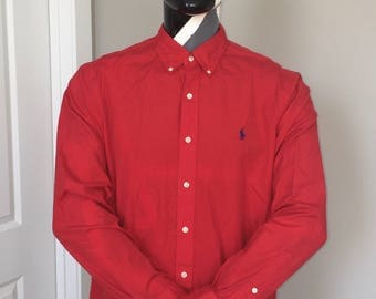 Polo Ralph Lauren-Oxford Long Sleeve Button Down-Red