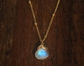 Moonstone gold filled necklace