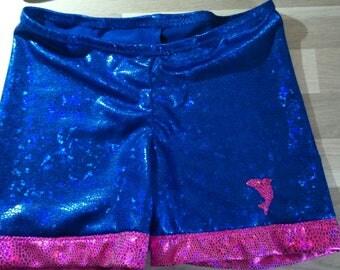 Gymnastics fabric elastane with trim shorts