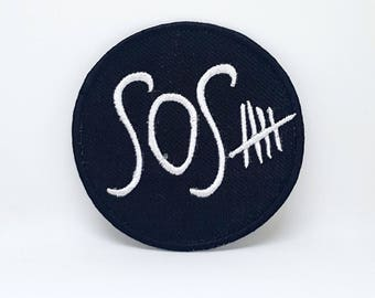 863# 5SOS SECOND OF SUMMER Heavy Metal Punk Rock Music Iron/Sew on Embroidered Patch
