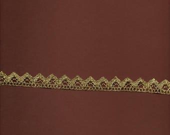 Golden Lurex lace wide 1.7 cm (stranded 3821)