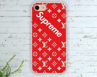 Iphone 7 Supreme case Iphone 7 plus louis vuitton silicone cover Samsung s7 edge TPU case Cute case Iphone 6 vuitton cover Samsung s8 plus