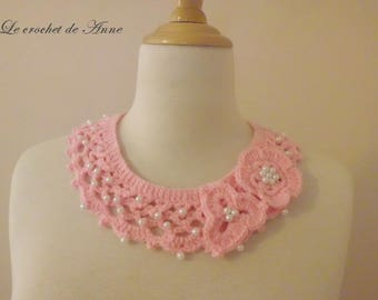 Pastel pink, decorated with flowers and beads necklace!