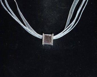 Gray organza necklace