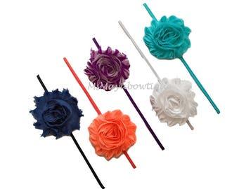 Newborn headband, set of 5, floral headband, baby flower headband, baby girl hairband, baby skinny headband, baby hair accessories, babyband