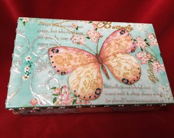 Decorated wooden box