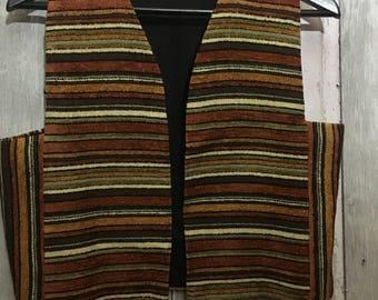 1970's Striped Vest Size Small- Medium
