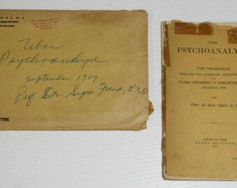 Sigmund Freud 1st edition book limited (1910) - Signed Autograph + Dedication