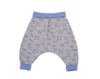 Baby boy chic and comfortable cotton jersey harem pants