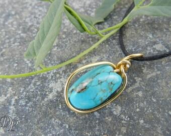 """""""Daphné"""" turquoise pendant"""