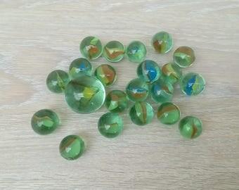 Set of 20 beads and 1 cap set no. 6