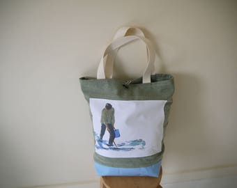 big tote bag, beach bag, bag for the whole family