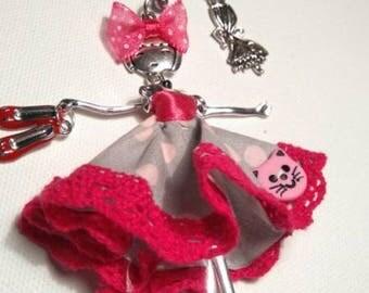 Beautiful key ring, jewel bag Sydounette 14