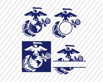 usmc svg, marine corps logo digital file, cricut file, silhouette files, svg cutting files, studio file, cuttable. instant download