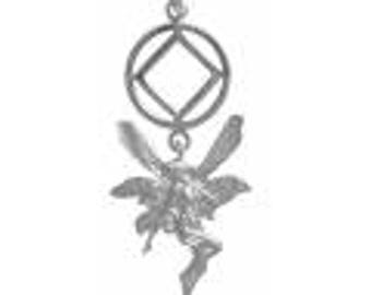 NA Sterling Silver Fairy Pendant