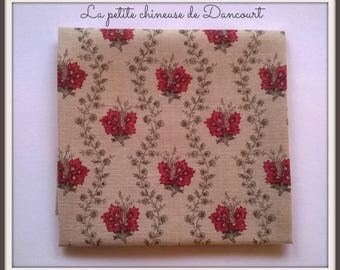 Coupon of fabrics from Mas D'ousvan Suza red chambray 50x55cm