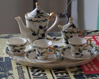 Regal Porcelain Miniature Tea Set