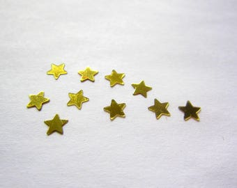 Set of 25 small stars in gold