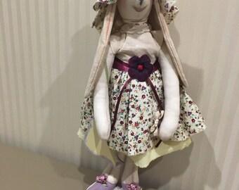 Rabbit in the style of Tilda