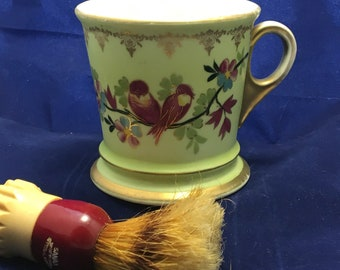 Vintage Mustache Cup, Lovebirds