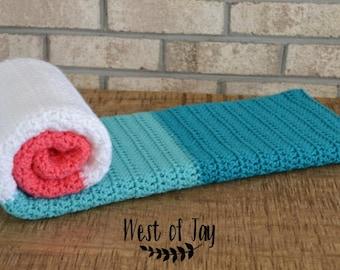 Crochet Color Block Baby Blanket - Color Block Baby Blanket - Crochet Baby Blanket - Baby Blanket - Color Blocks