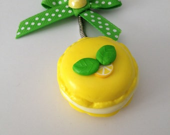 Key lime macaron gourmand!