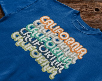 Retro Style Vintage Look California USA State T-shirt