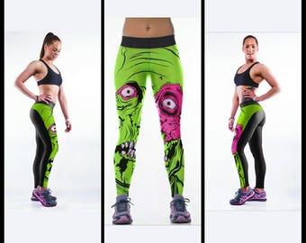 Woman's 3D printed leggings