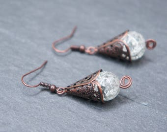 Original earrings conical - Ice