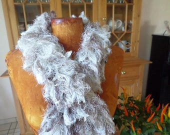 scarf made with a very cool wool