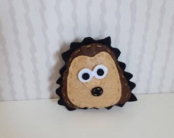 Felt Hedgehog brooch