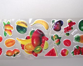 18 fruit Stickers.