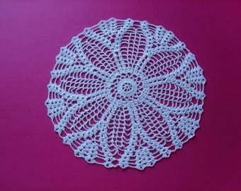 Doily 30cm white home decor